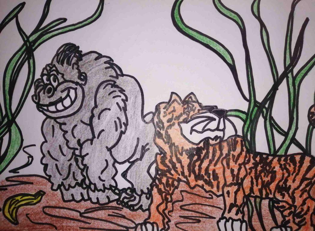 Zootiere auf einem Bild