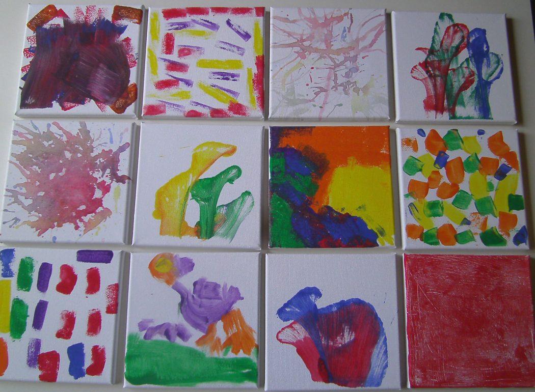 Kunstwerke der Kindergartenkinder