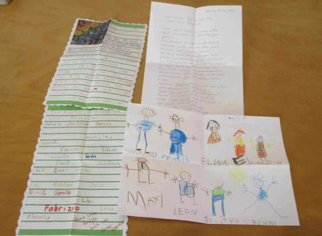 Briefe der Schulkinder und der Schulanfänger
