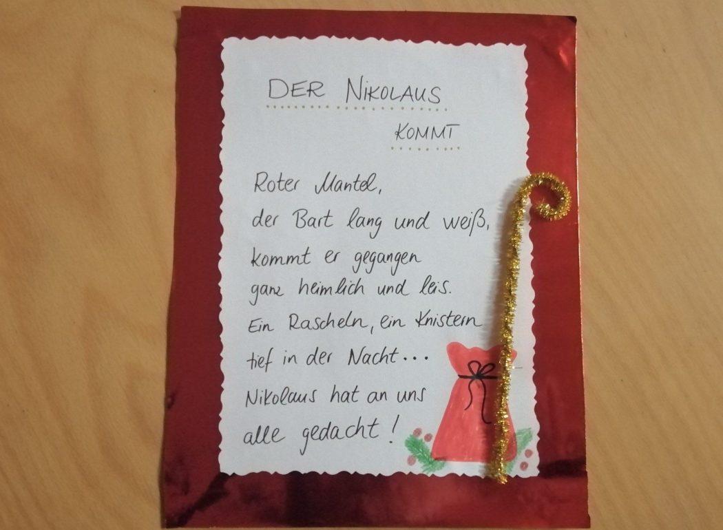 Gedicht: Der Nikolaus kommt