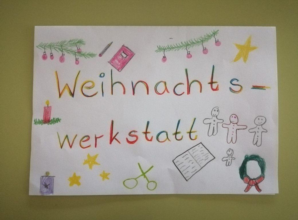 """Schild """"Weihnachtswerkstatt"""""""