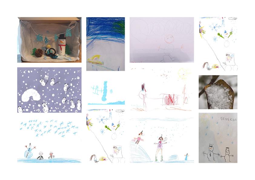Collage mit Winterbildern