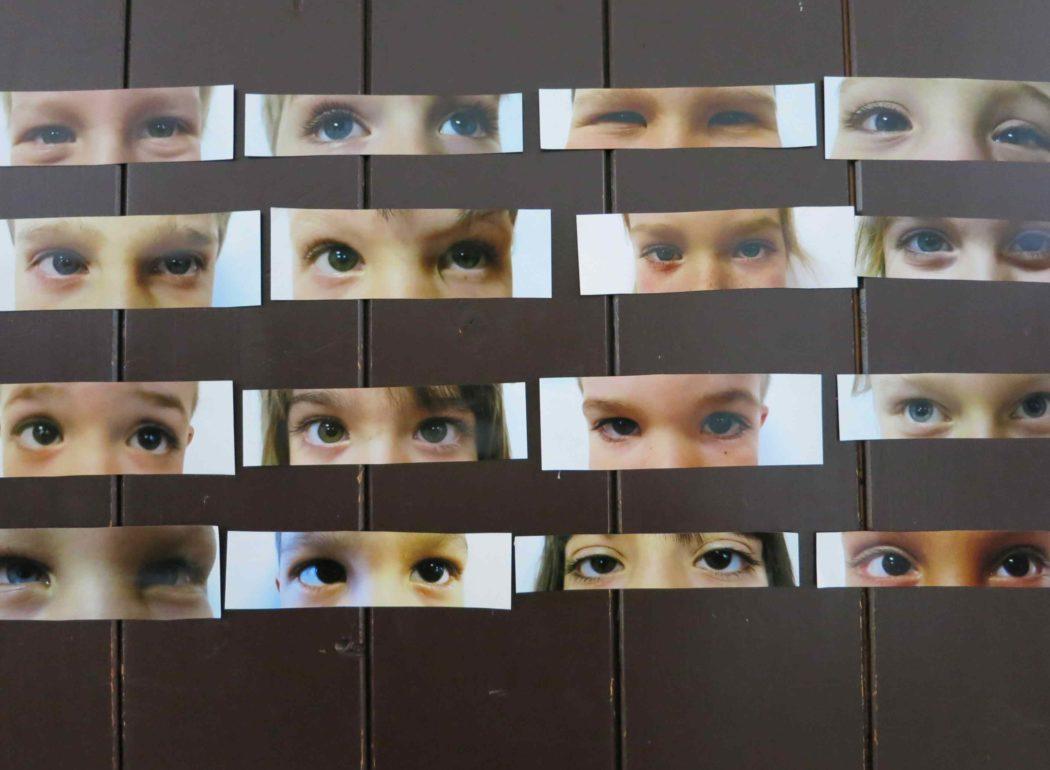 Die Augenpartien von verschiednen Kindern