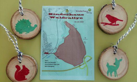 Laufkarte und Medallien der Waldrallye